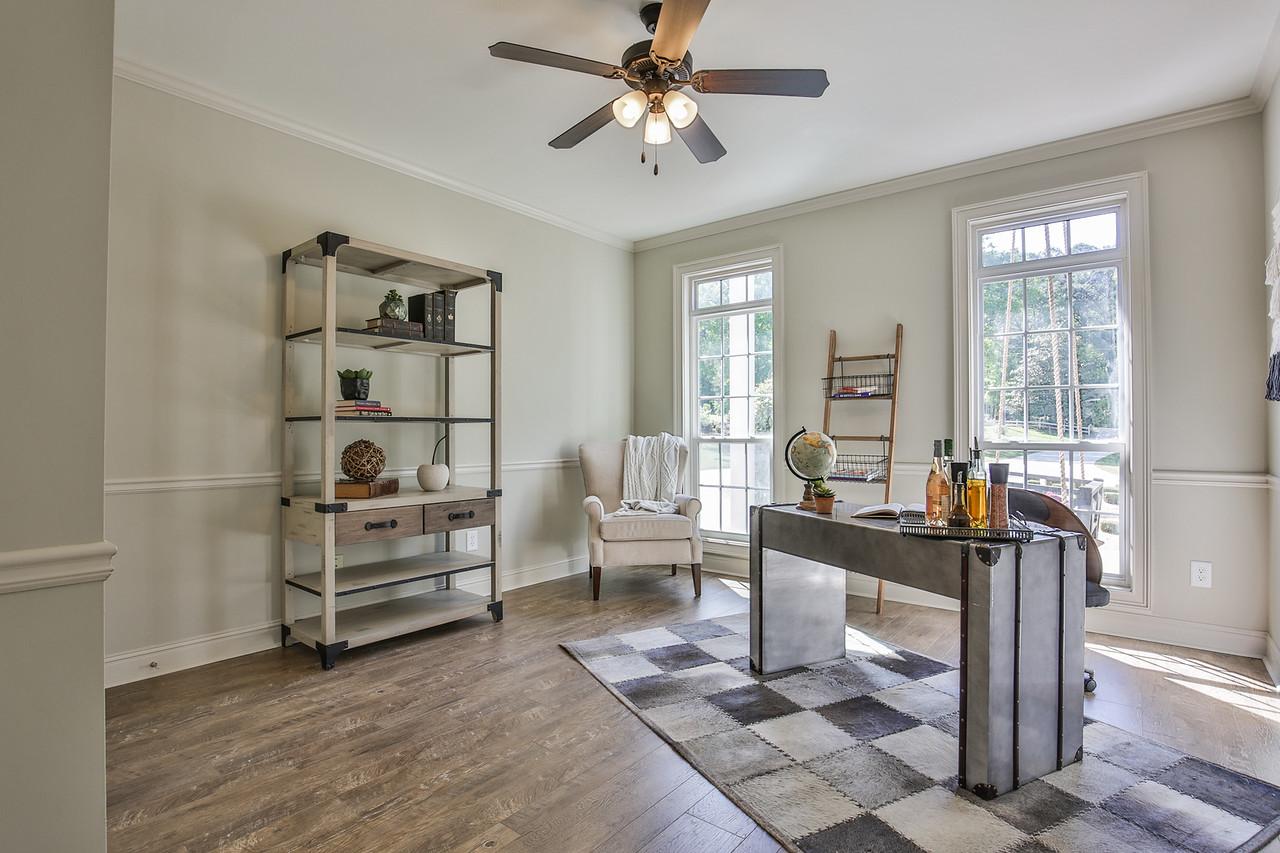 Shelf & Chair: England Furniture, Fan/Light: Savoy House, Desk: TJ Maxx