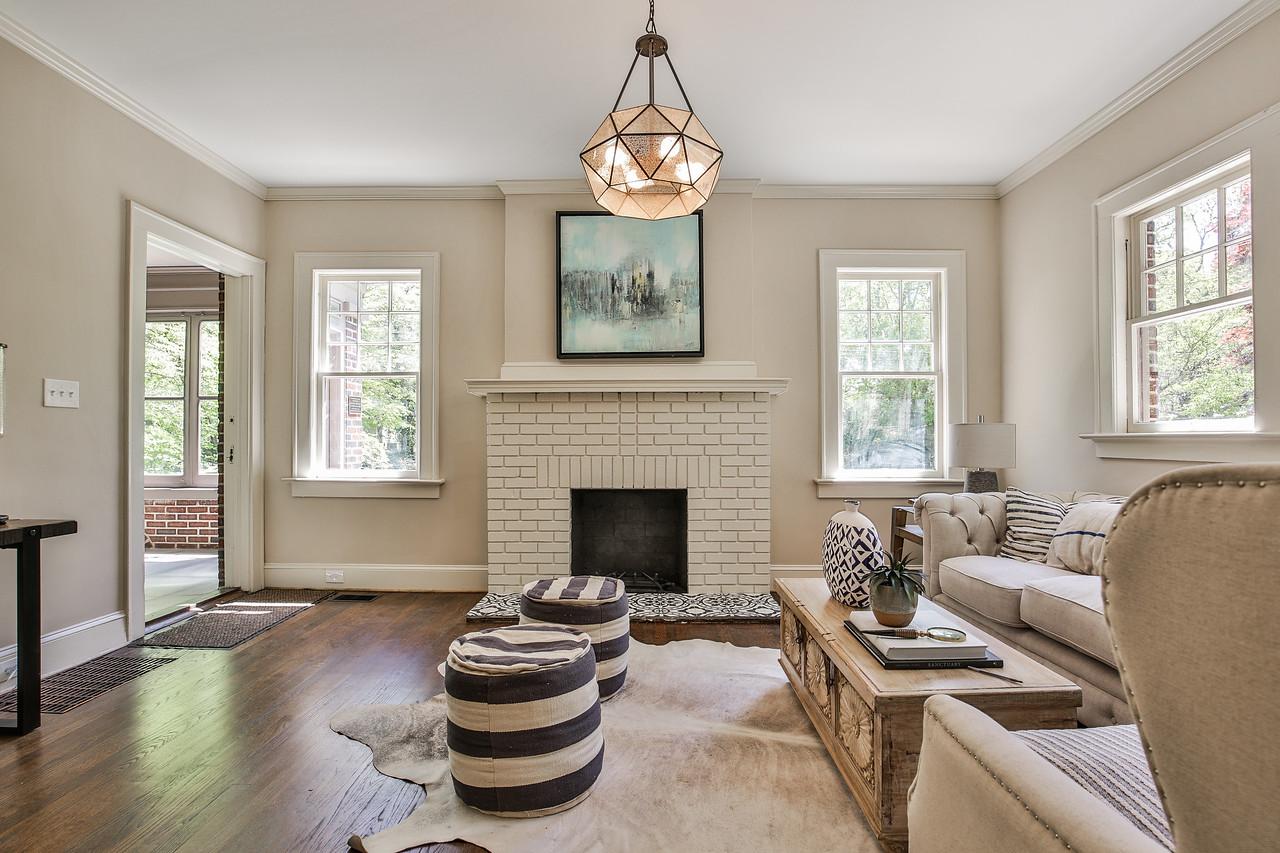 Lighting: Savoy House, Fireplace tile: Cement Tile Shop