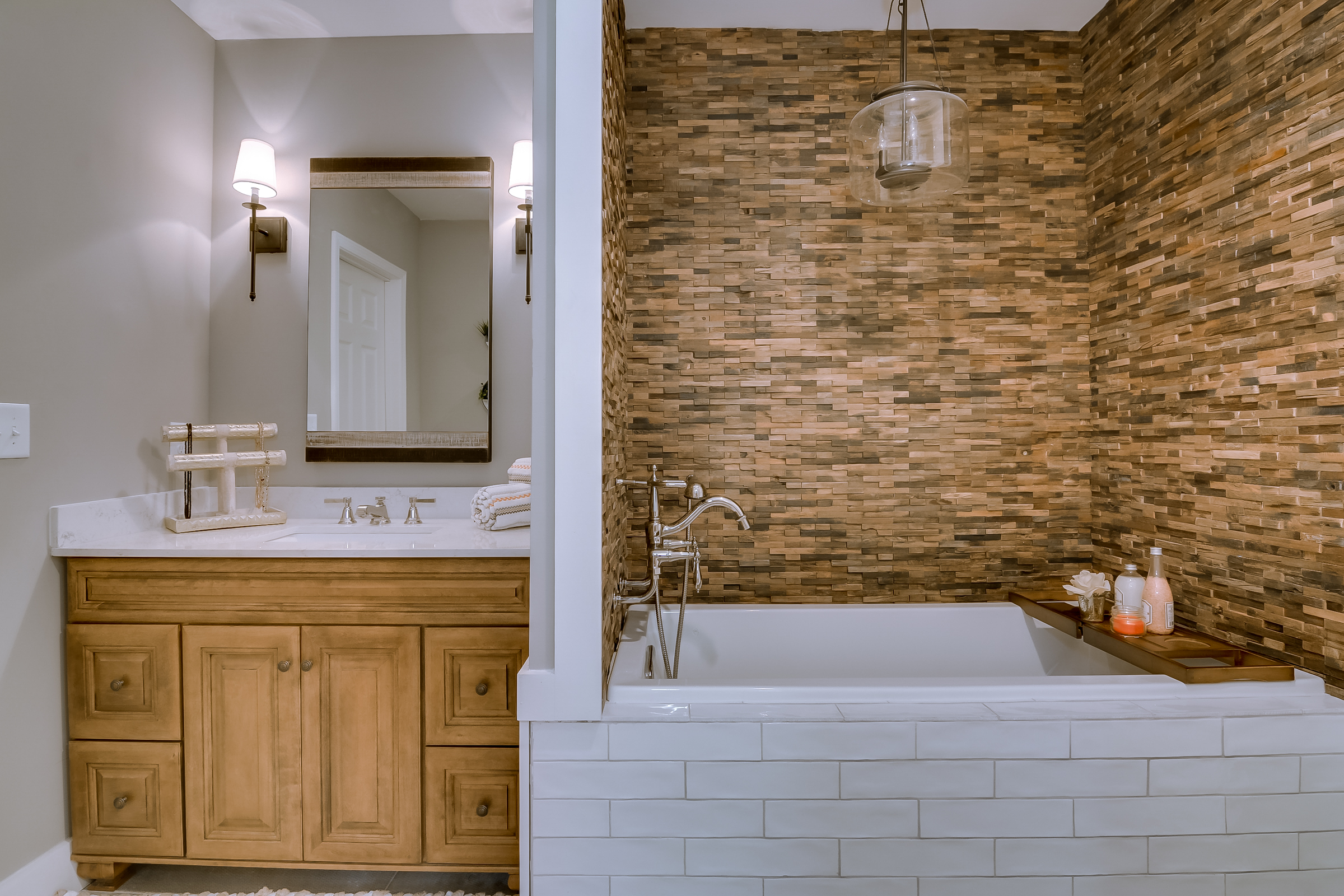 Lighting: Savoy House, Tub and Faucet: Kohler