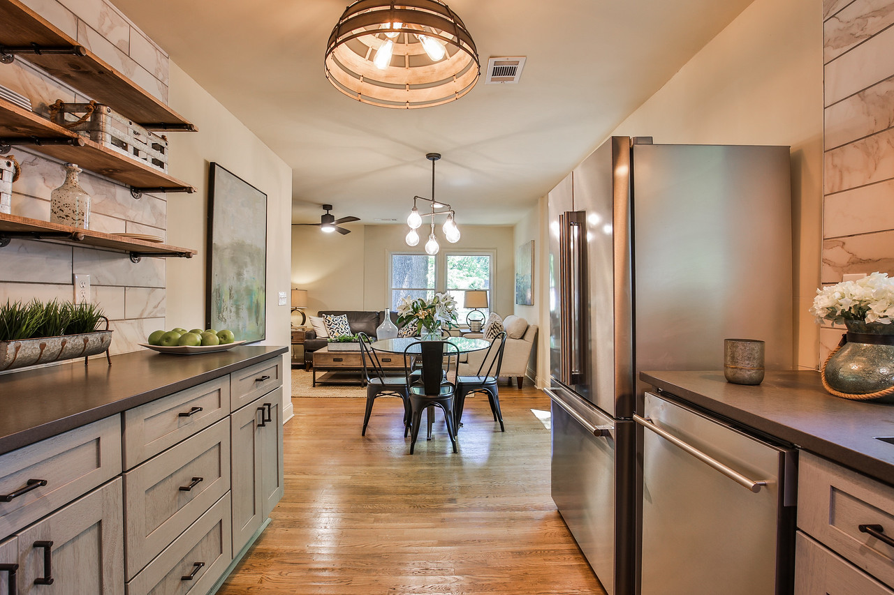 Cabinets by Forevermark Cabinetry, Hardware by Liberty, Appliances by Blomberg, Lighting by Savoy House, Counters by HanStone Quartz
