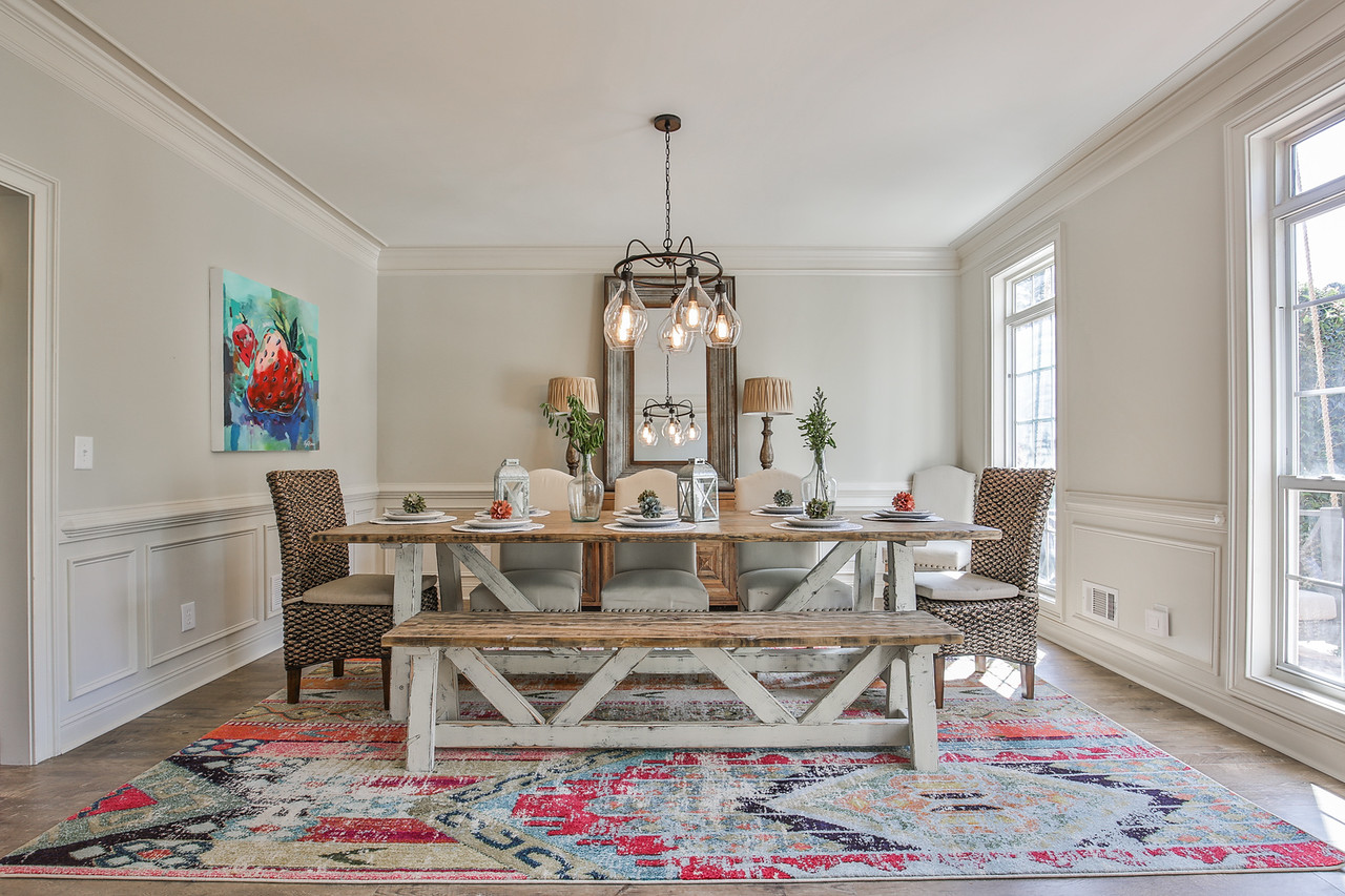 Original Art by Kyle Hicks, Lighting: Savoy House, Table & Bench: Junct2Funkt